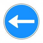 Turn left sign, decals stickers