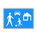 Residential area sign, decals stickers
