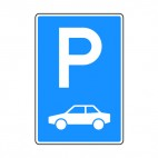 Car parking sign, decals stickers