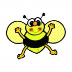 Bee smiling, decals stickers