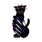 Angry purple cheetah claws drawing, decals stickers