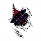 Angry purple lynx claws drawing, decals stickers