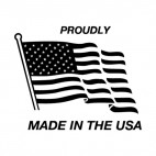 United States Proudly made in the usa logo, decals stickers