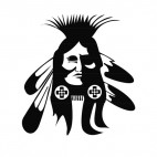 Native American chief portrait, decals stickers
