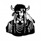 Native American chief, decals stickers