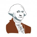 United States George Washington brown suit portrait, decals stickers