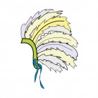 Native American Headdress, decals stickers