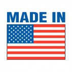 United States Made In United States logo, decals stickers