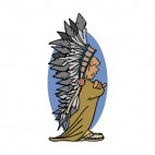 Small Native American with crossed arms, decals stickers