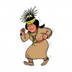 Native American woman dancing, decals stickers