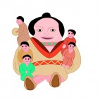 Native American dolls, decals stickers
