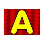 Animal letter A red colour backround, decals stickers