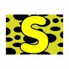 Animal letter S cheetah colours backround, decals stickers