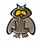 Brown owl, decals stickers