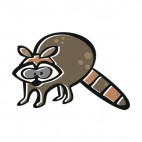 Brown raccoon, decals stickers