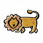 Lion walking, decals stickers