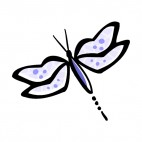 Purple dragonfly, decals stickers