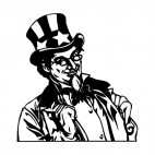 United States Uncle Sam picture, decals stickers