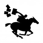 United States pony express rider, decals stickers