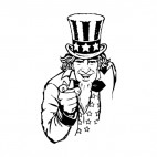 United States Uncle Sam i want you , decals stickers