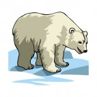 White polar bear standing on ice, decals stickers
